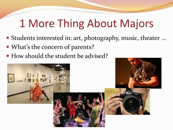 1 More Thing About Majors