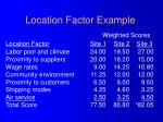 location factor example1