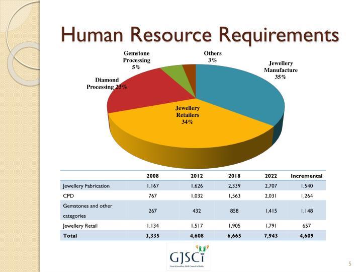 Human Resource Requirements