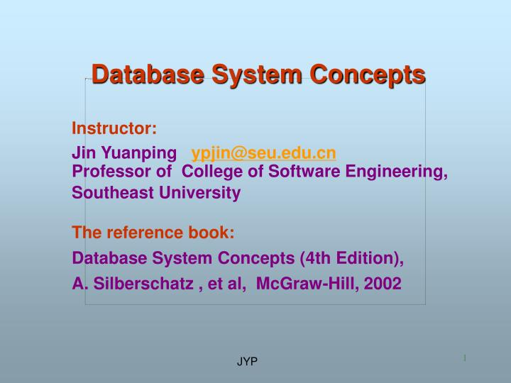 database system concepts n.