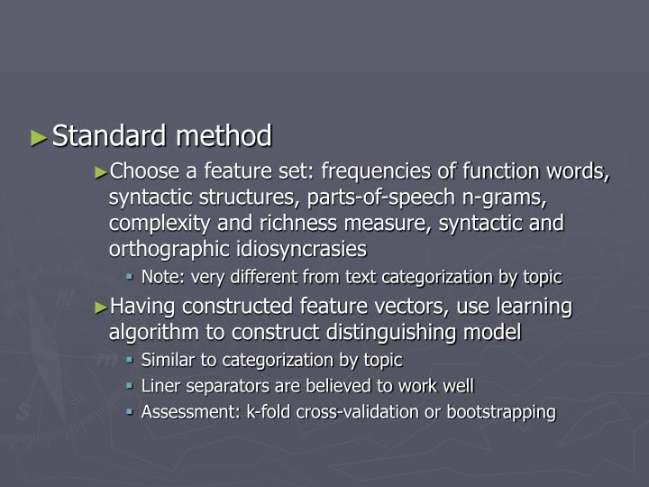 Standard method