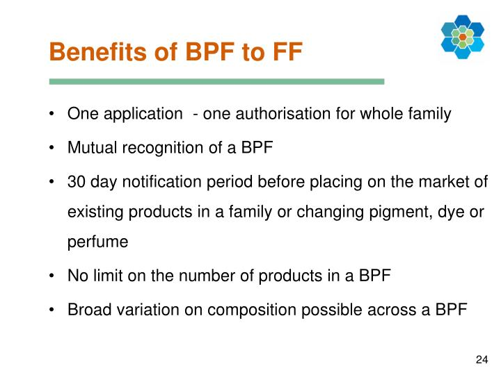 Benefits of BPF to FF