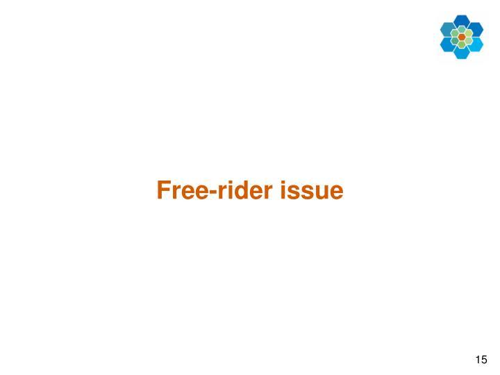 Free-rider issue