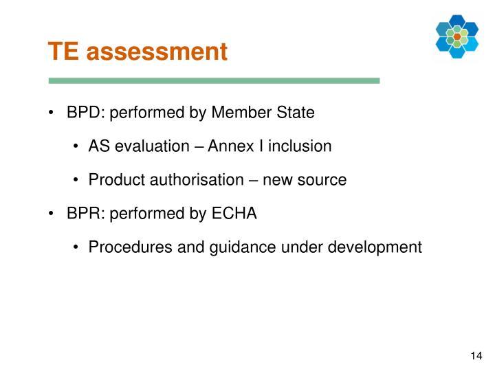 TE assessment