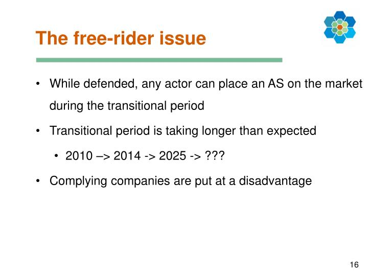 The free-rider issue