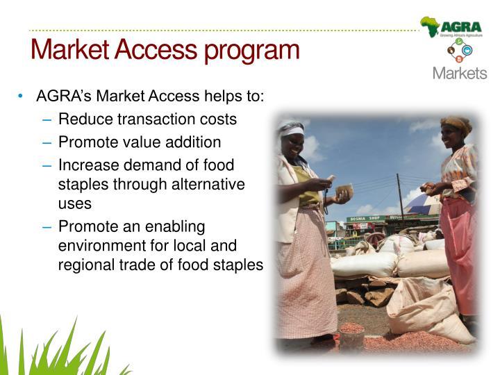 Market Access program