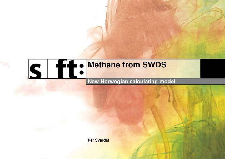 Methane from swds