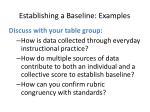 establishing a baseline examples
