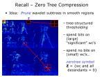 recall zero tree compression