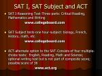 sat i sat subject and act