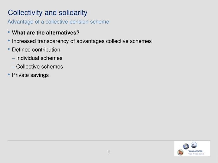 Collectivity and solidarity