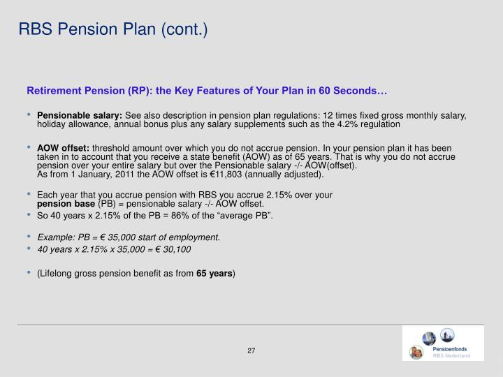 Retirement Pension (RP): the Key Features of Your Plan in 60 Seconds…