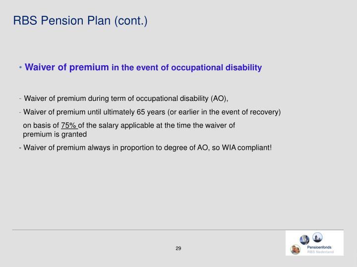 RBS Pension Plan (cont.)