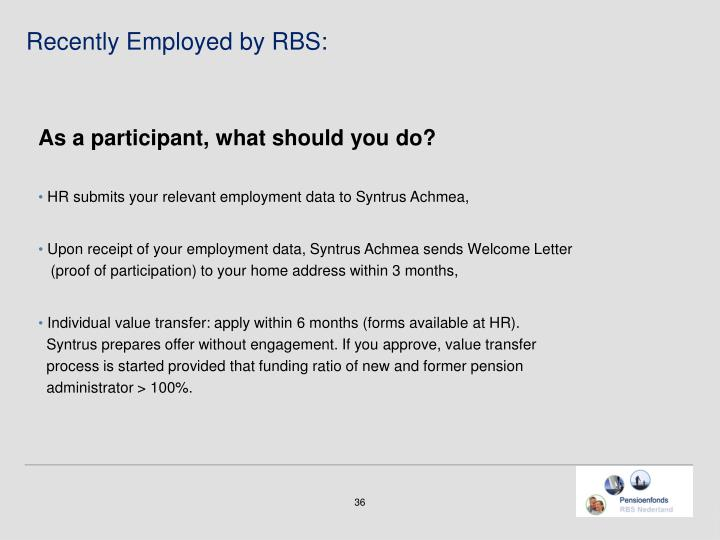 Recently Employed by RBS: