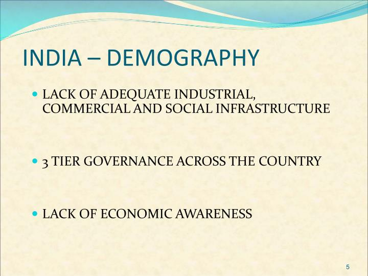 INDIA – DEMOGRAPHY