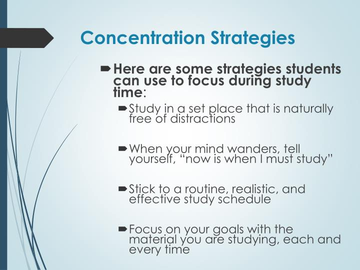 Concentration Strategies