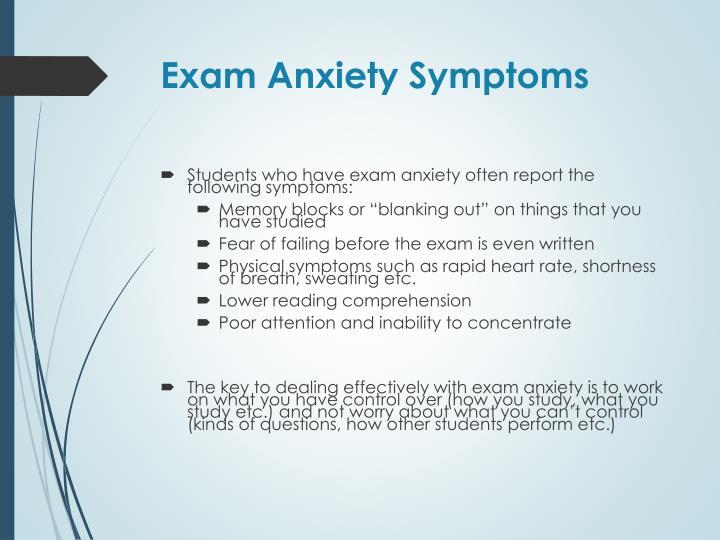 Exam Anxiety Symptoms