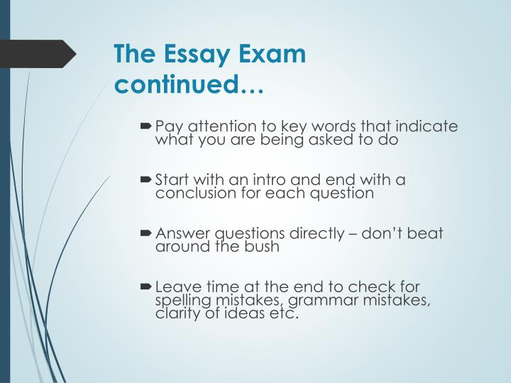 The Essay Exam