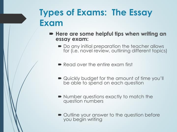 Types of Exams:  The Essay Exam