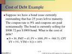 cost of debt example