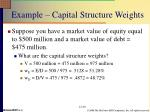 example capital structure weights