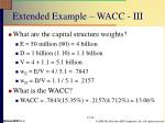 extended example wacc iii
