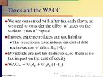 taxes and the wacc