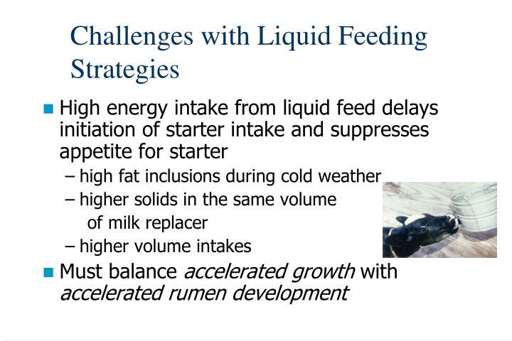 Challenges with Liquid Feeding Strategies