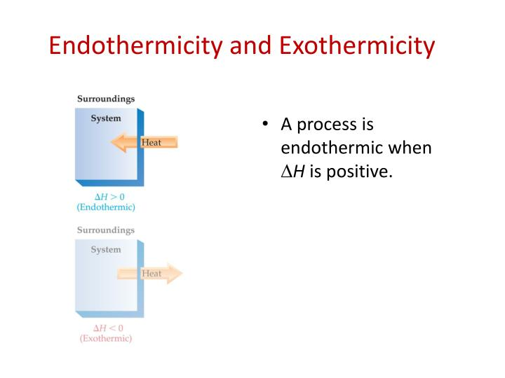 Endothermicity and Exothermicity