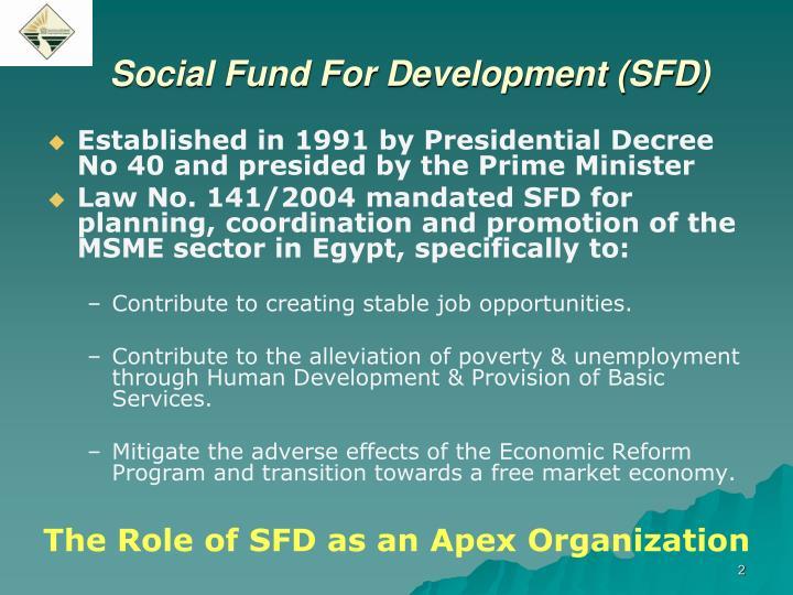 Social fund for development sfd