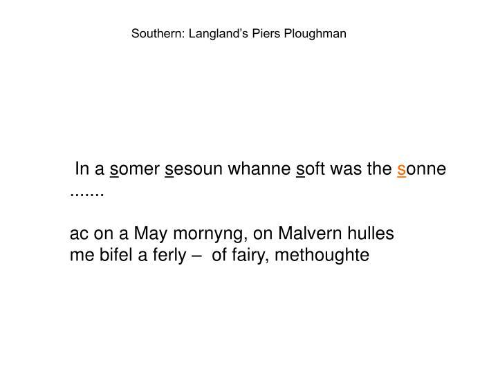 Southern: Langland's Piers Ploughman