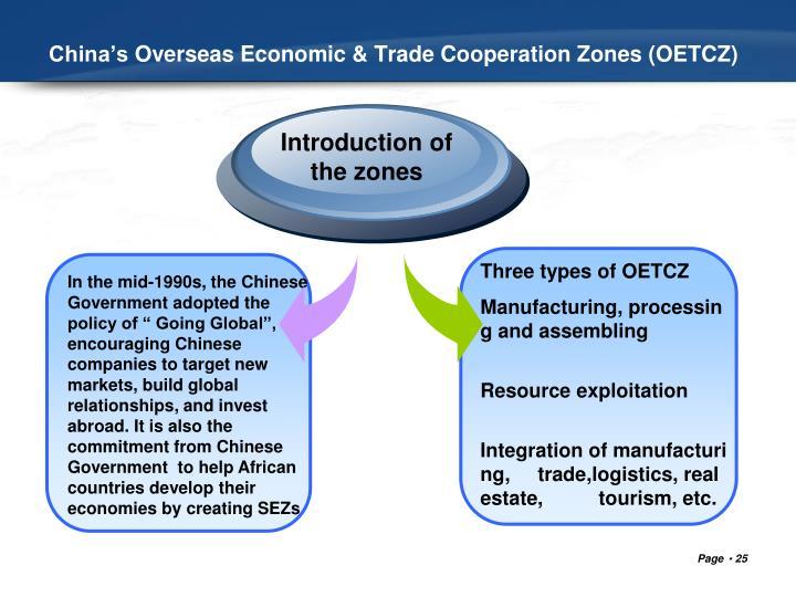 China'sOverseasEconomic & TradeCooperationZones (OETCZ)