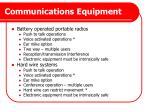 communications equipment