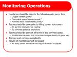 monitoring operations