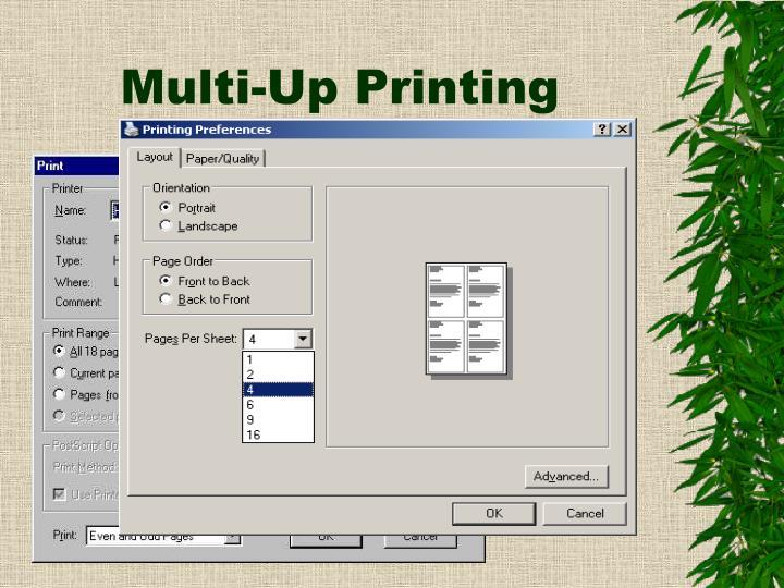 Multi-Up Printing