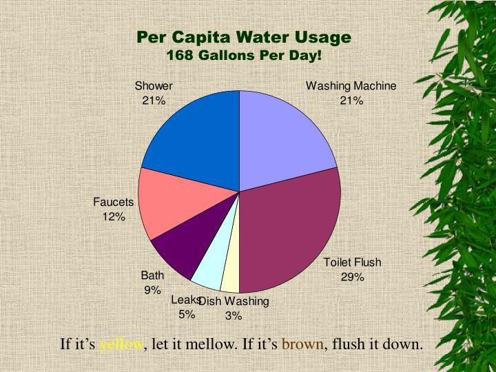 Per Capita Water Usage