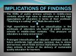 implications of findings