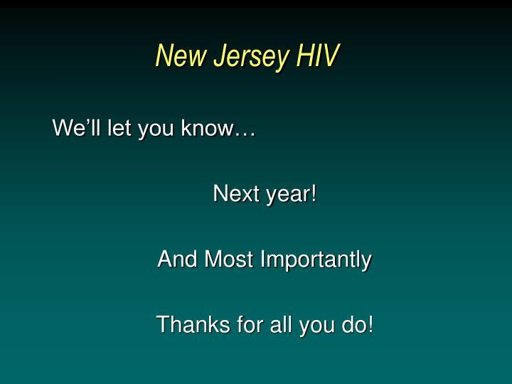 New Jersey HIV