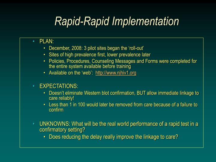 Rapid-Rapid Implementation