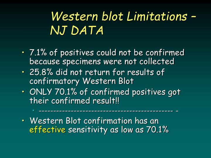 Western blot Limitations – NJ DATA