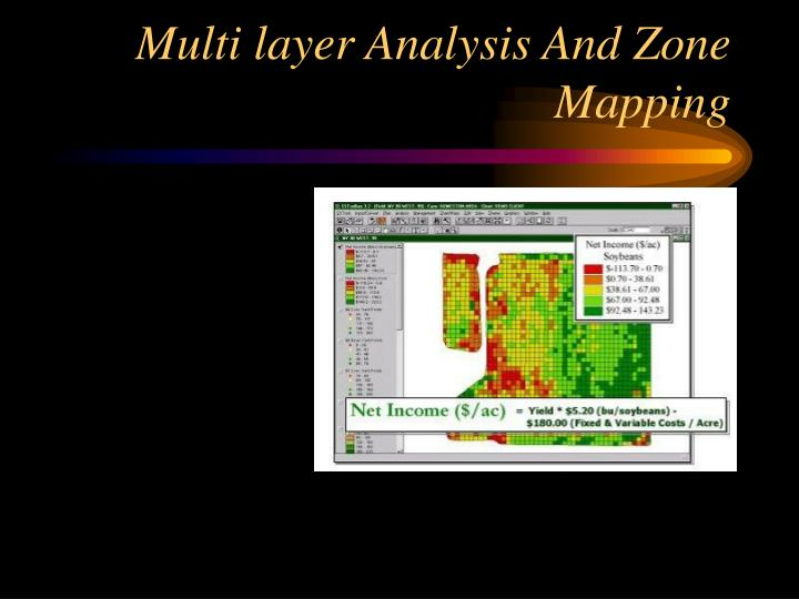 Multi layer Analysis And Zone Mapping