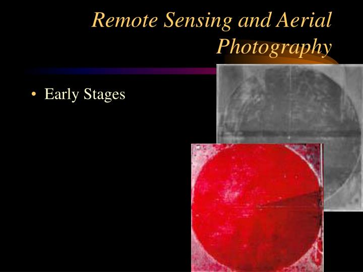 Remote Sensing and Aerial Photography