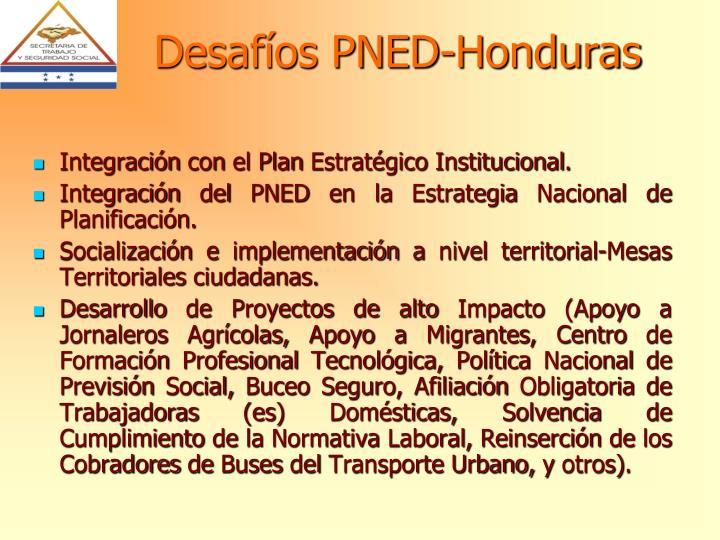 Desafíos PNED-Honduras
