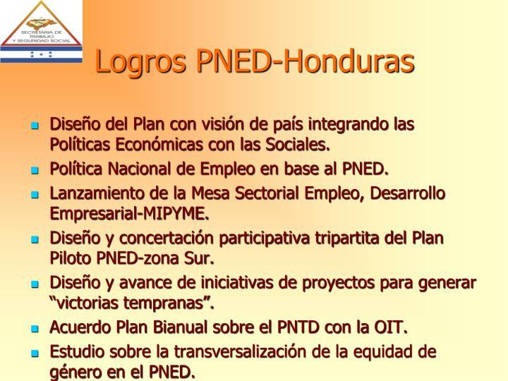 Logros PNED-Honduras