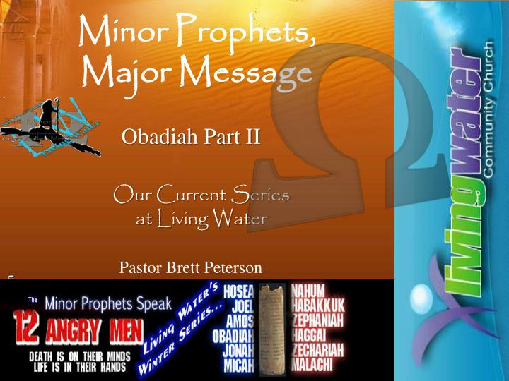 minor prophets major message n.