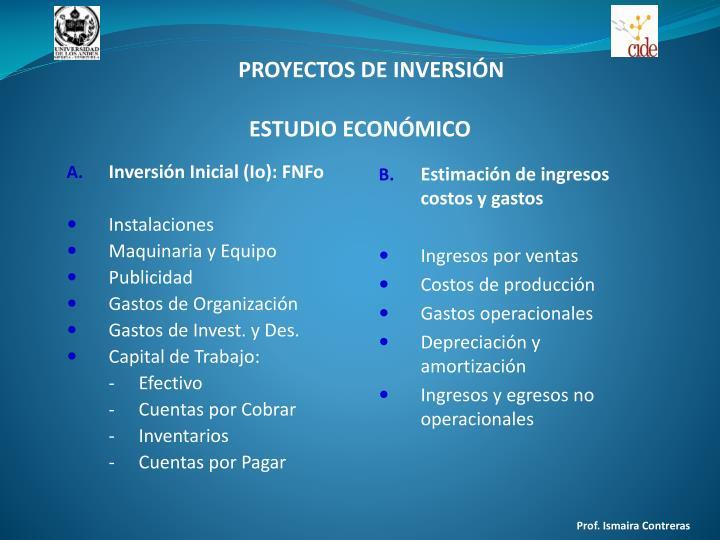 Inversión Inicial (Io): FNFo