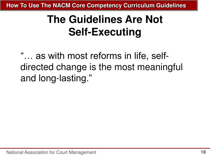 The Guidelines Are Not