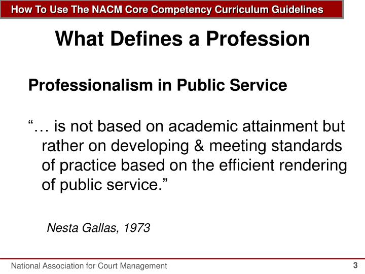 What defines a profession1