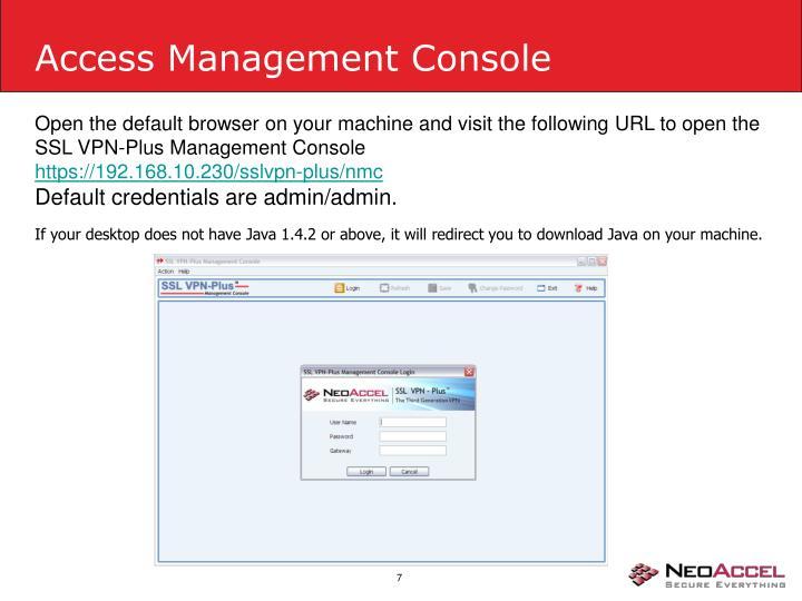 Access Management Console