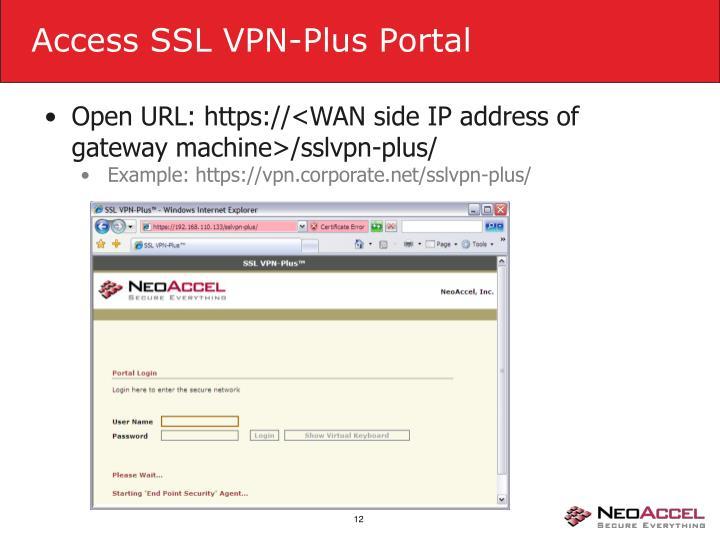 Access SSL VPN-Plus Portal